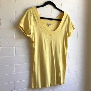 Super cute lemon yellow scoop neck  Summer top😊